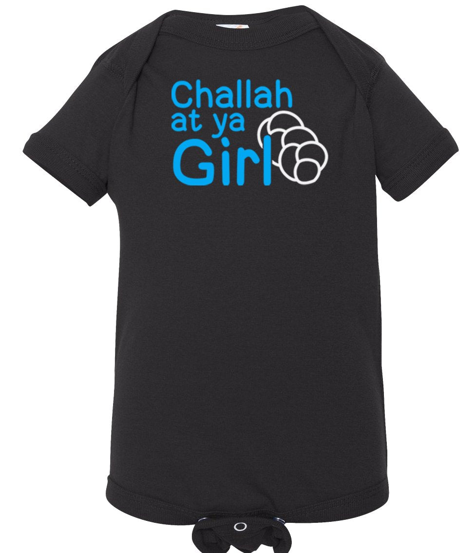 black challah infant Hanukkah onesie