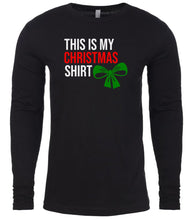 Load image into Gallery viewer, black Christmas shirt for Men