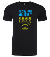 Load image into Gallery viewer, black Jew It men's Hanukkah t shirt