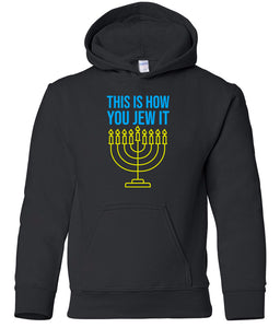 black jew it toddler hooded Hanukkah Sweatshirt