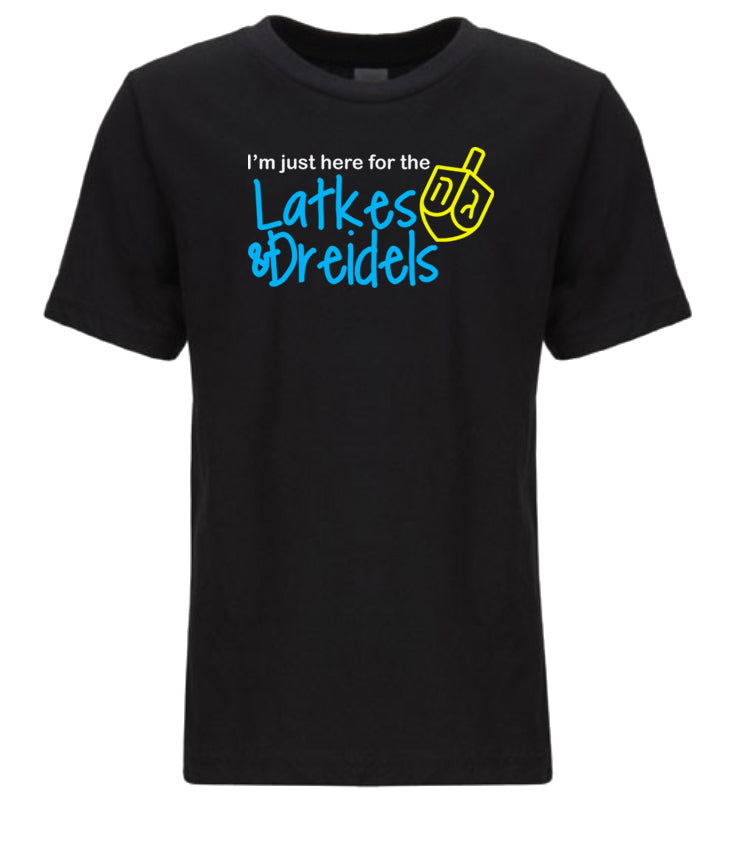 black latkes and dreidels toddler Hanukkah t shirt