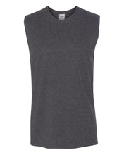 Load image into Gallery viewer, dark grey men's sleeveless t-shirt