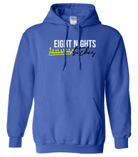 Load image into Gallery viewer, blue 8 nights Hanukkah Hooded Sweatshirt