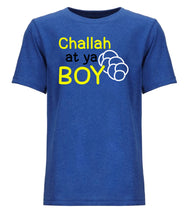 Load image into Gallery viewer, blue challah youth Hanukkah t shirt