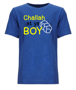 blue challah youth Hanukkah t shirt