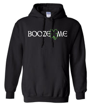 Load image into Gallery viewer, black booze me St Patricks Day Hoodie