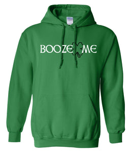 green booze me St Patricks Day Hoodie