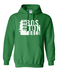 green Boston born and bred hoodie