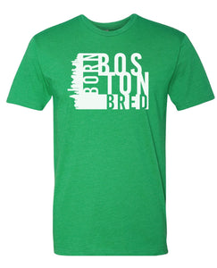 green Boston born and bred t-shirt