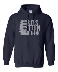 navy Boston born and bred hoodie