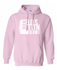 pink Boston born and bred hoodie