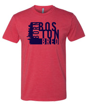 Load image into Gallery viewer, red Boston born and bred t-shirt