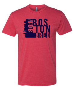 red Boston born and bred t-shirt