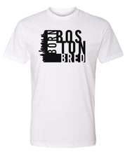 Load image into Gallery viewer, white Boston born and bred t-shirt