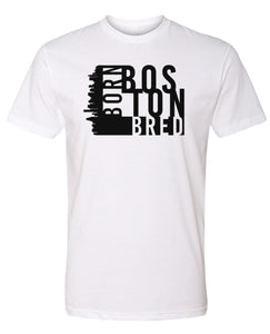 white Boston born and bred t-shirt