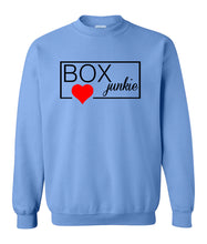 Load image into Gallery viewer, blue box junkie sweatshirt for women