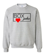 Load image into Gallery viewer, grey box junkie sweatshirt for women