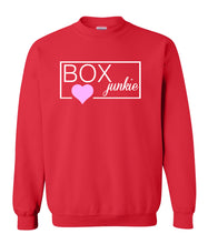 Load image into Gallery viewer, red box junkie sweatshirt for women