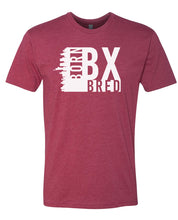 Load image into Gallery viewer, maroon Bronx born and bred t-shirt