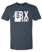 Load image into Gallery viewer, navy Bronx born and bred t-shirt