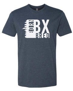 navy Bronx born and bred t-shirt