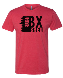 red Bronx born and bred t-shirt