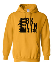 Load image into Gallery viewer, gold Brooklyn born and bred hoodie