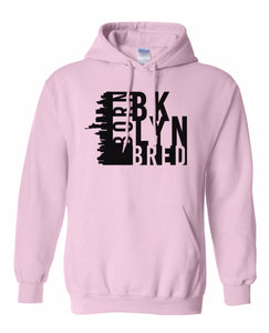 pink Brooklyn born and bred hoodie