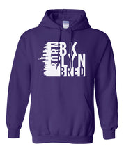 Load image into Gallery viewer, purple Brooklyn born and bred hoodie