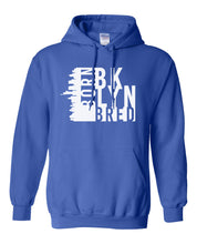 Load image into Gallery viewer, royal Brooklyn born and bred hoodie