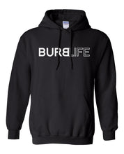 Load image into Gallery viewer, black burb life pullover hoodie