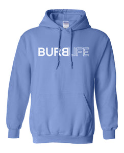 blue burb life pullover hoodie