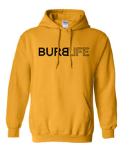Load image into Gallery viewer, gold burb life pullover hoodie