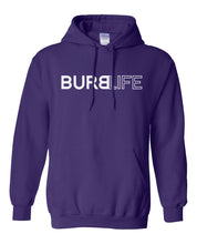 Load image into Gallery viewer, purple burb life pullover hoodie