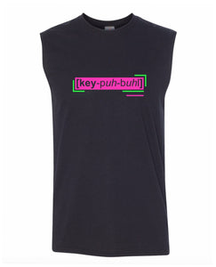 florescent pink capable men's sleeveless t shirt tank top