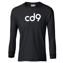 Load image into Gallery viewer, black CD9 youth long sleeve t shirt for boys