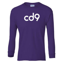 Load image into Gallery viewer, purple CD9 youth long sleeve t shirt for girls