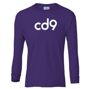 purple CD9 youth long sleeve t shirt for girls