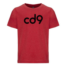 Load image into Gallery viewer, red CD9 youth crewneck t shirt for boys