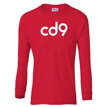 Load image into Gallery viewer, red CD9 youth long sleeve t shirt for boys