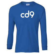 Load image into Gallery viewer, blue CD9 youth long sleeve t shirt for boys