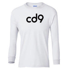 Load image into Gallery viewer, white CD9 youth long sleeve t shirt for boys