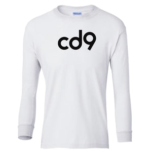 white CD9 youth long sleeve t shirt for boys