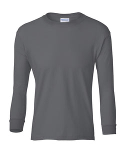 charcoal youth long sleeve t shirt