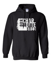 Load image into Gallery viewer, black Charlotte born and bred hoodie