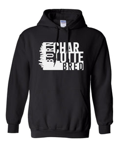 black Charlotte born and bred hoodie