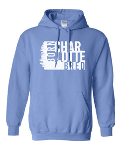 blue Charlotte born and bred hoodie