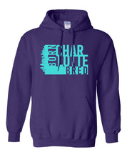 Load image into Gallery viewer, purple Charlotte born and bred hoodie