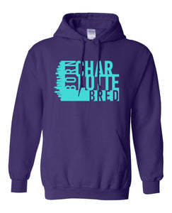purple Charlotte born and bred hoodie