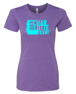 purple Charlotte born and bred women's t-shirt